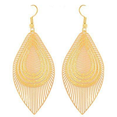 Boucles d'oreilles créoles ciselées couleur doré effet brillant