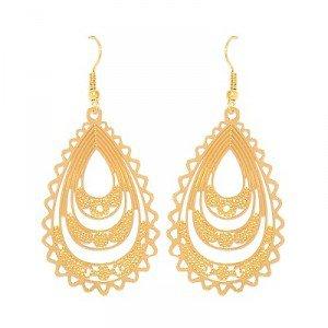 Boucles d'oreilles pour femme - Tombantes couleur doré